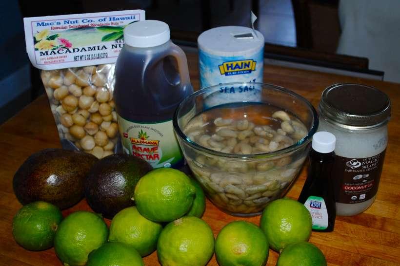 Ingredients Raw Key Lime Pie