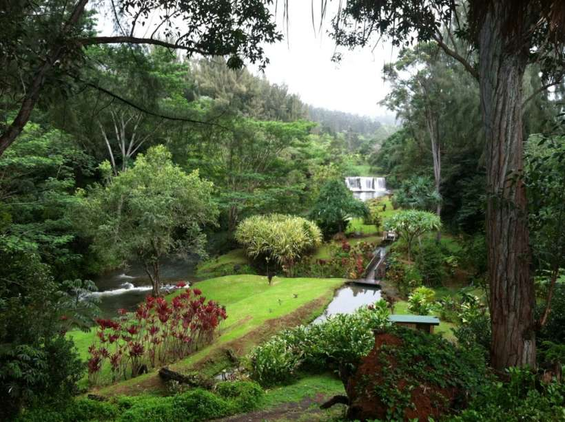 stone dam kilauea kauai