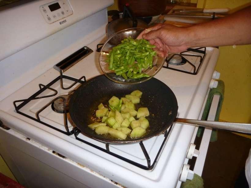 green beans chayote squash