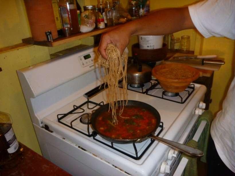 noodles sauteed veggies stew