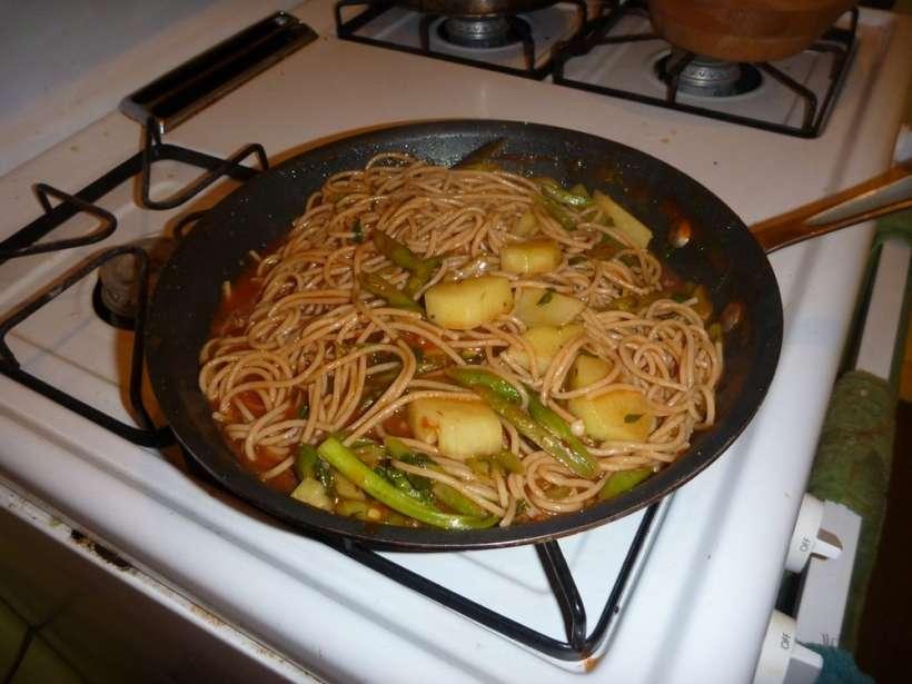 pasta veggies