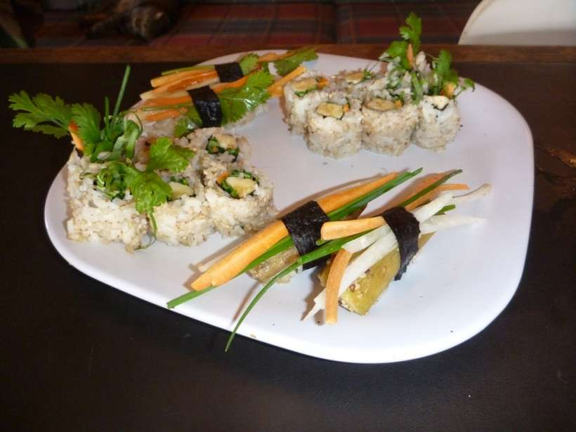 sushi raw vegan