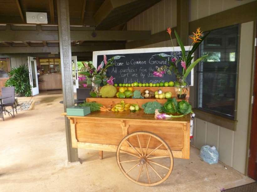 sunday morning garden market cart