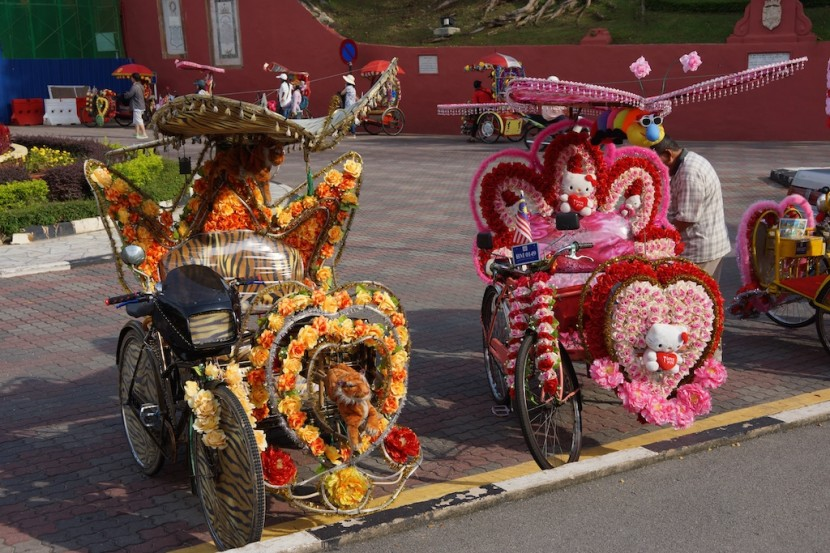 The colorful trishaws of Malacca