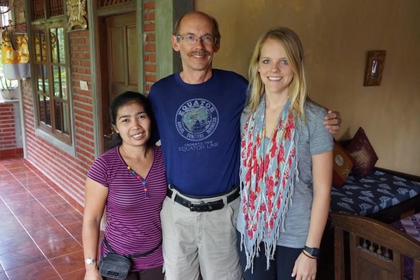 John, Haley and Ketut.