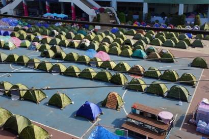 Bangkok,Bangkok protest,homes,park,protest,tents,Thailand
