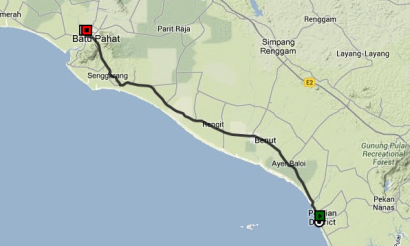 Pontian to Batu Pahat Malaysia