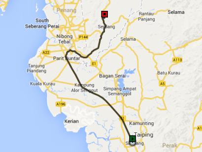 Taiping-to-Serdang-Kedah